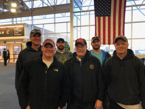 IUOE Local 420 Business Manager Mark Maierle sending off IUOE Local 420 members.Back Row: Jeff Hietpas, Mike Huss, Steve MoeschFront Row: Jeremy Satterburg, Mark Maierle, Ryan Trimberger